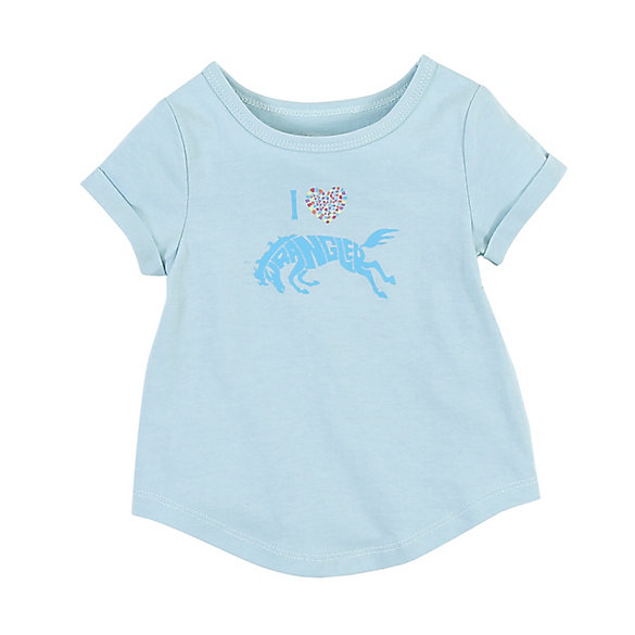 Girl's Short Sleeve Horse Graphic T-Shirt (5-6)