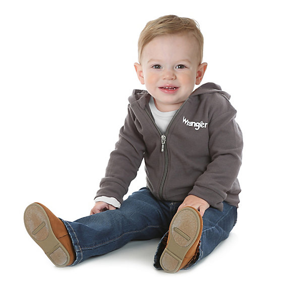 Toddler Long Sleeve Kabel Zip Front Hoodie
