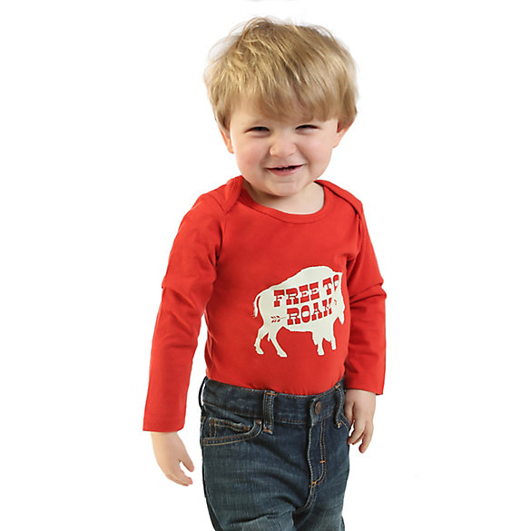 Baby Boy Wrangler® Long Sleeve Graphic Bodysuit