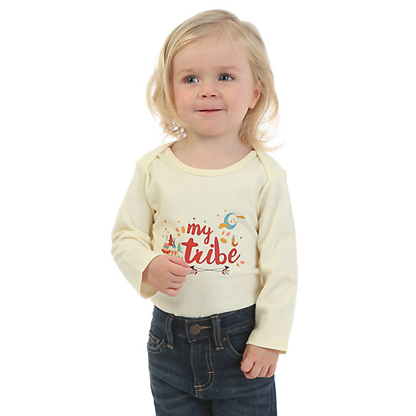 Baby Girl Wrangler® Long Sleeve Graphic Bodysuit