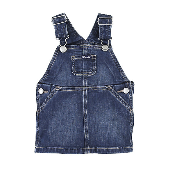 Toddler Girl Overall Dress with Front Bib Pocket