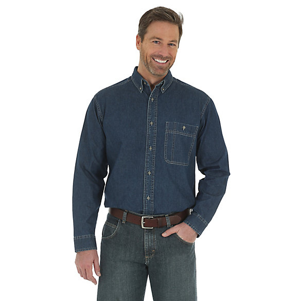 Wrangler Rugged Wear® Denim Basic Shirt (Tall Sizes)