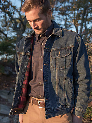 Wrangler Rugged Wear® Flannel Lined Denim Jacket