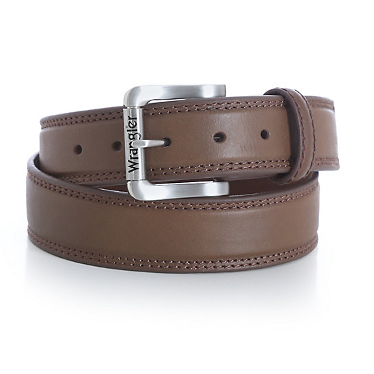Wrangler Rugged Wear® Belt with Nickle Buckle Double Stitch
