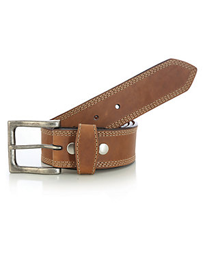 Wrangler Rugged Wear® Belt with Triple Needle Stitch detail