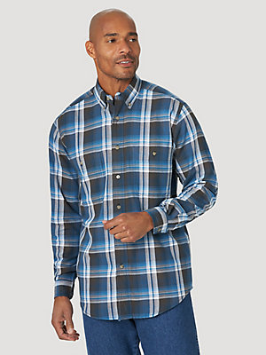Wrangler Rugged Wear® Long Sleeve Easy Care Plaid Button-Down Shirt
