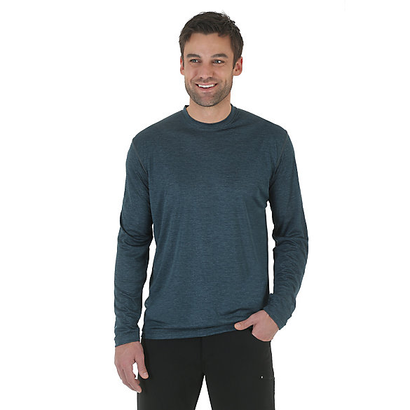 Wrangler Rugged Wear® All-Terrain Long Sleeve Crew Performance Tee (Big & Tall Sizes)