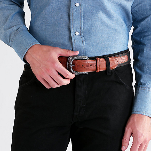 Men's Two-Tone Western Billet Belt
