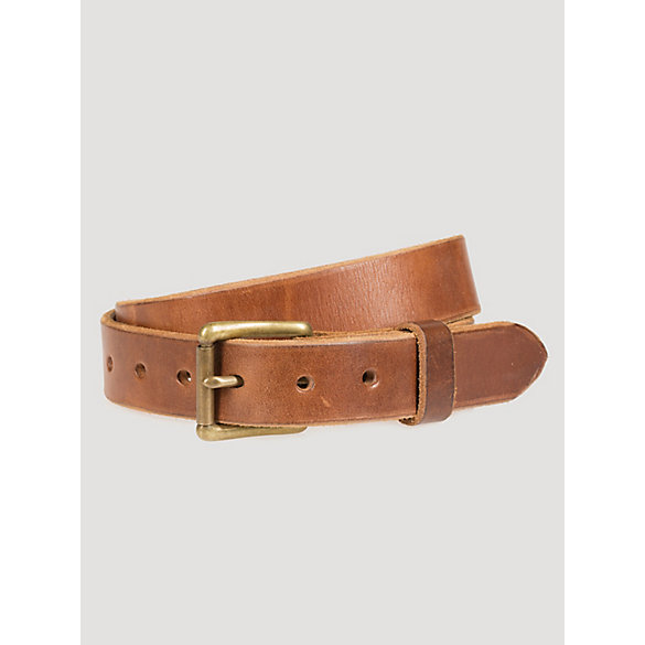 Men's Saddle Leather Roller Buckle Belt