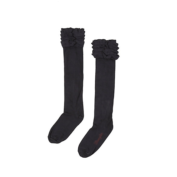 Women's Knee High Ruffle Sock
