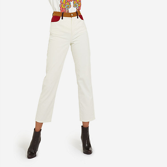 Peter Max™© X Wrangler® Women's Pieced Corduroy Retro Straight Fit Pant