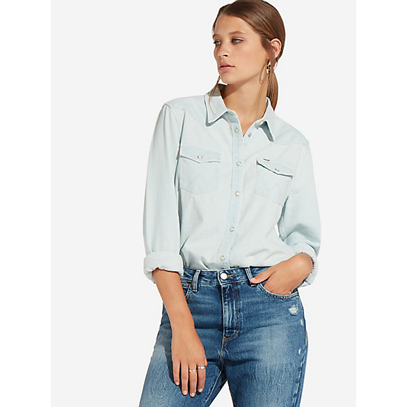 Women's Oversized Denim Shirt