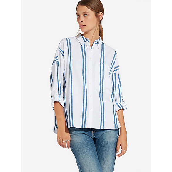 Women's Oversized Stripe Shirt