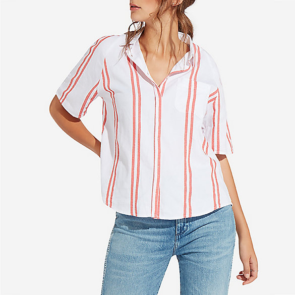 Women's Raglan Short Sleeve Stripe Shirt