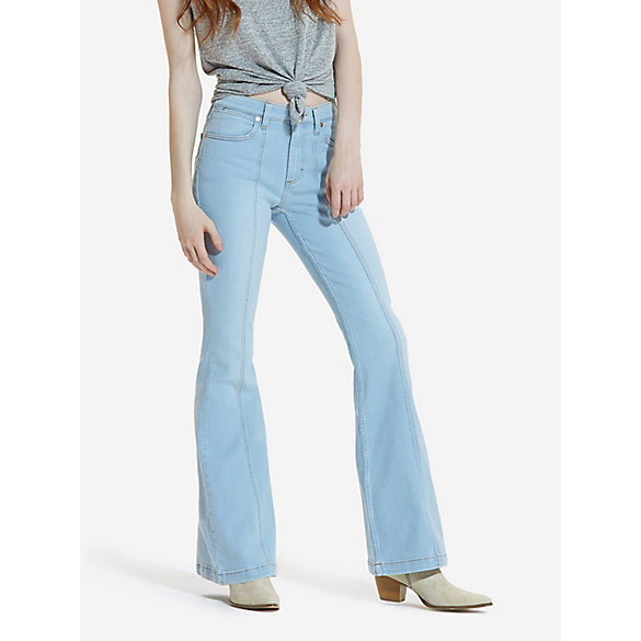 Women's High Rise Seamed Flare Jean