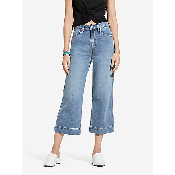 Women S Wide Leg Crop Jean Womens Jeans By Wrangler 174
