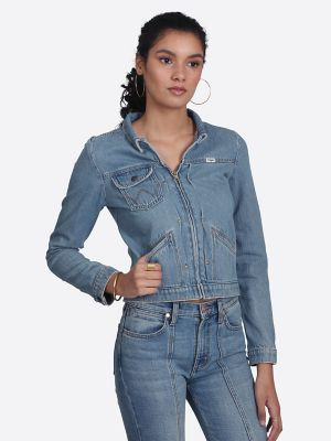 0d8ab3b2 Women's Heritage Zip Denim Jacket | Womens Jackets and Outerwear by Wrangler ®