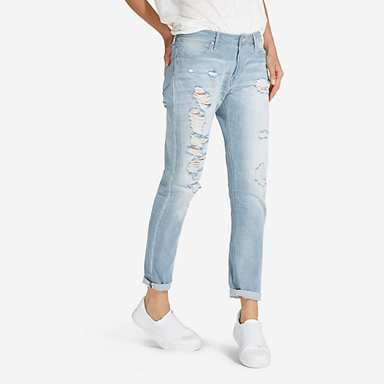 Women's Born Ready Selvedge Destructed Boyfriend Jean