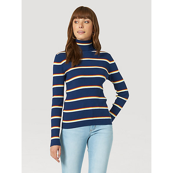 Women's Stripe Turtleneck