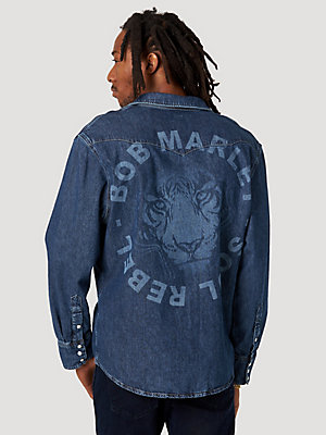 Wrangler® x Bob Marley Soul Rebel Denim Shirt
