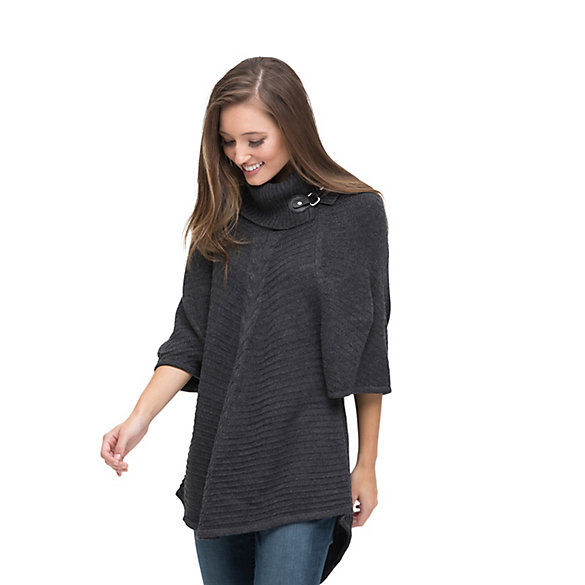 Women's Wrangler® Poncho Sweater with Cowlneck