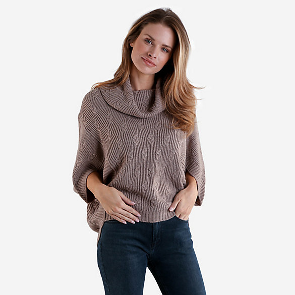 Women's Cowl Neck Cocoon Sweater