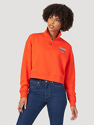 Women's Quarter-Zip Campus Sweatshirt