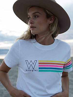 Women's Rainbow Stripe Tee