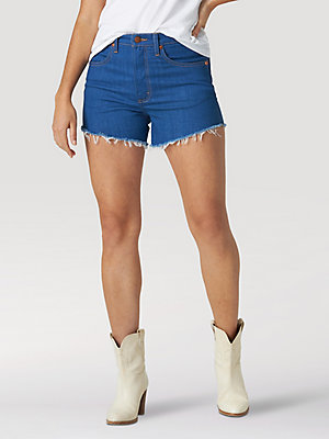 Women's Low-Dip Rinse Cut-Off Shorts