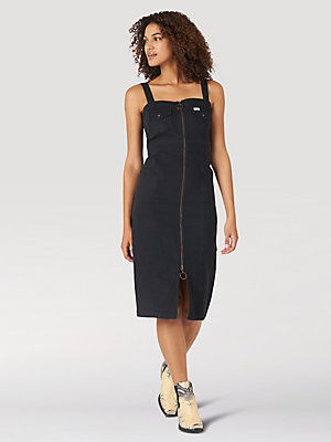 Women's Denim Zipper Bodycon Dress