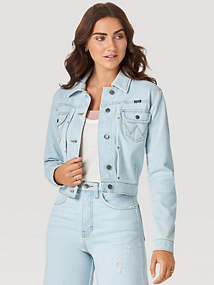 Fred Segal Loves Wrangler Pleated Denim Jacket