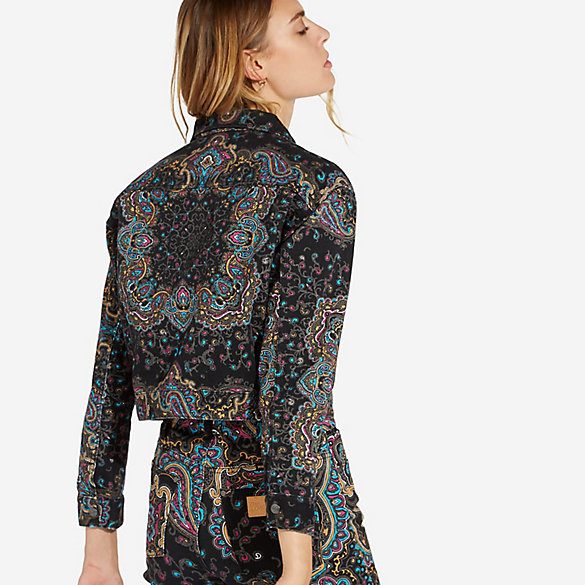 Women's Retro Crop Paisley Jacket