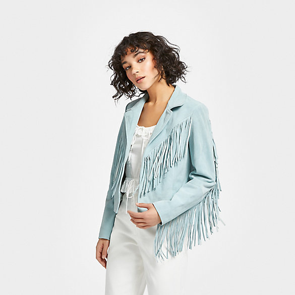 Wrangler® X Urban Outfitters Women's Friday's Child Fringe Jacket