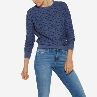 Women's Born Ready Long Sleeve Star Print Sweater