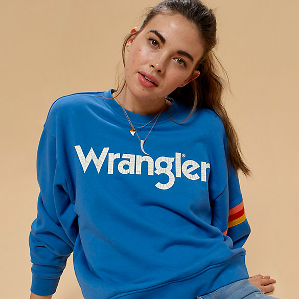 Women's Wrangler® Born Ready Rainbow Arm Kabel Sweatshirt