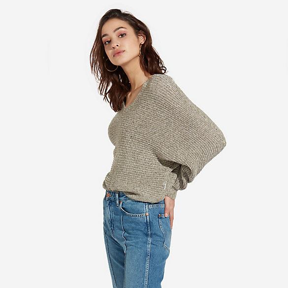 Women's Loose Fit V-Neck Sweater
