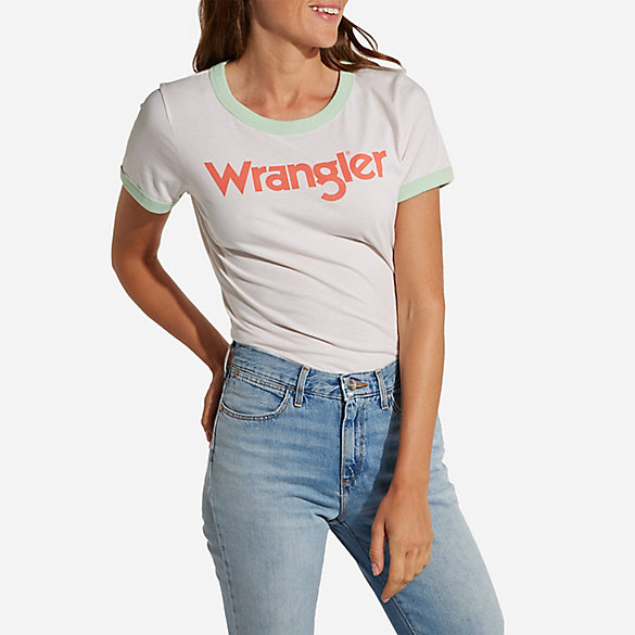 Women's Wrangler® Born Ready Short Sleeve Retro Kabel Pastels Logo T-Shirt
