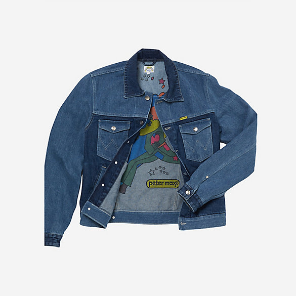 Peter Max™© X Wrangler® Men's Western Indigo Mix Jacket