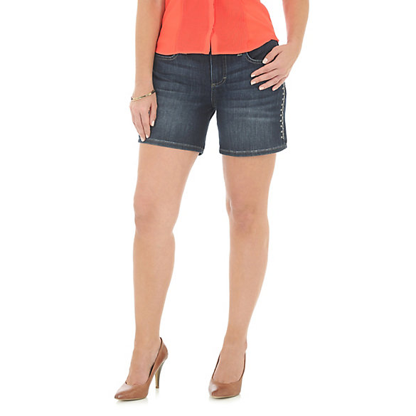 Women's Side Embroidered Short