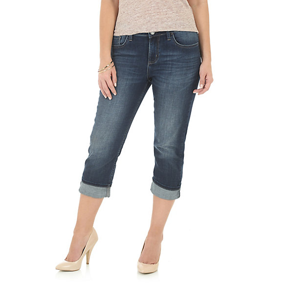 Wrangler® Five Pocket Denim Capri