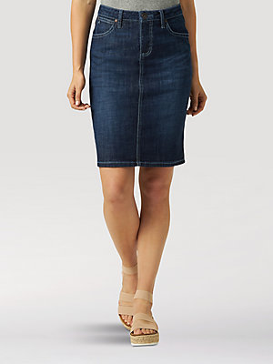 Aura from the Women at Wrangler® Denim Skirt
