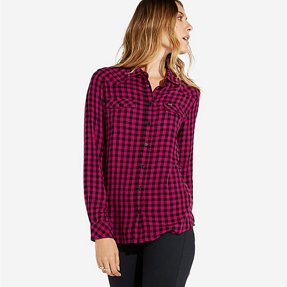 Women's Western Button-Down Plaid Shirt