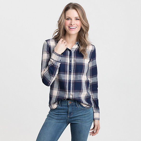 Women's Wrangler® Born Ready Long Sleeve Plaid Top