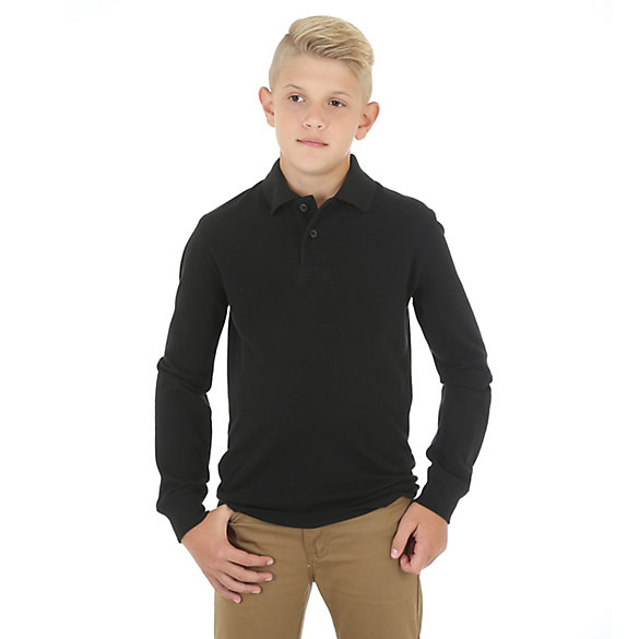 Boy's Long Sleeve Polo