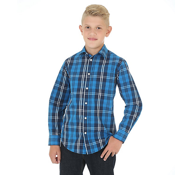Boy's Long Sleeve Button-Up