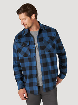 Men's Buffalo Plaid Polar Fleece Shirt