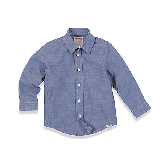 Toddler Boy's Long Sleeve Button-Up