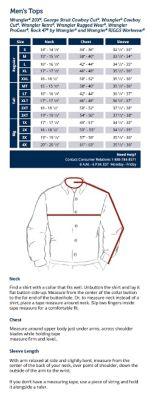 shirt size measurements