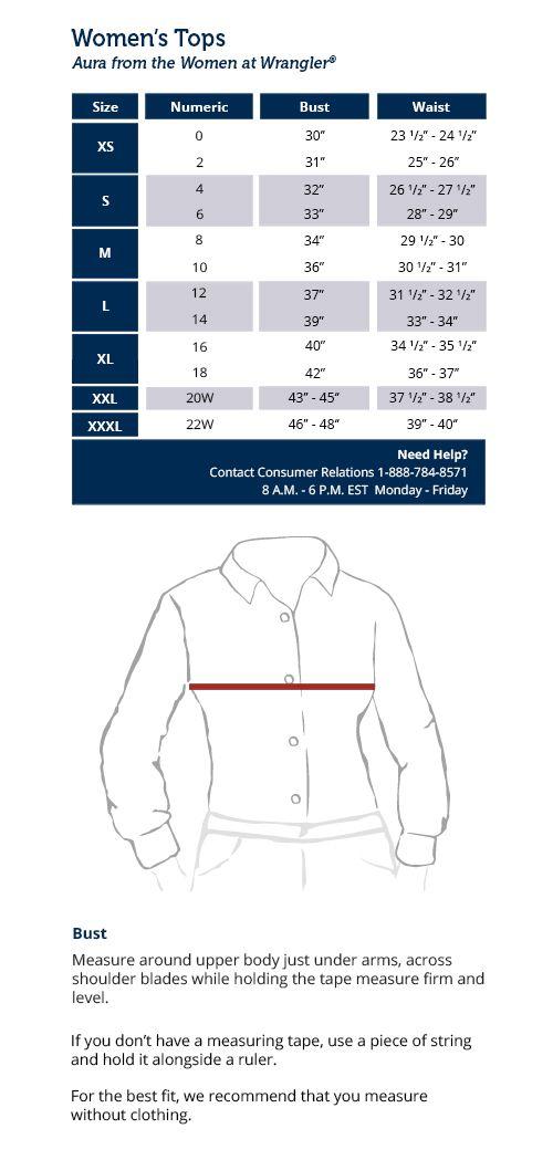 f25809afc78f Size Charts