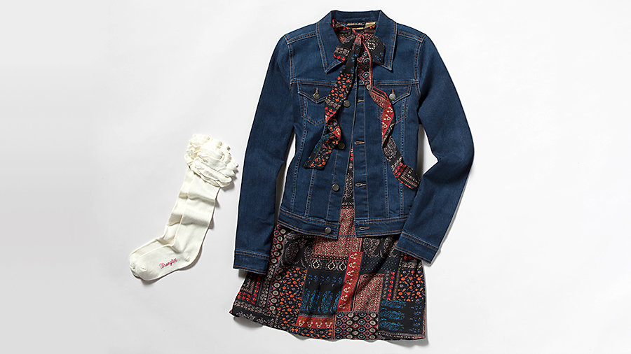 womens dress and jacket transitional fall style
